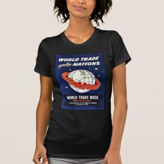 O comércio mundial une nações tshirt