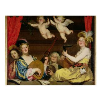 O concerto, 1624 cartão postal