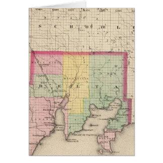 O Condado de Delta Michigan Cartão Comemorativo