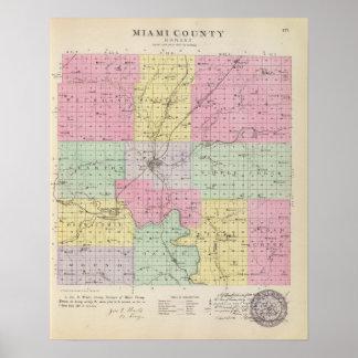 O Condado de Miami, Kansas Pôsteres
