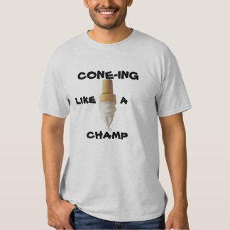O Cone-ing gosta de um campeão T-shirts