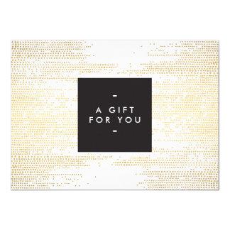 O confete elegante do ouro do falso pontilha o convite 11.30 x 15.87cm