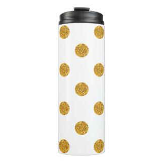 O confete Sparkling do ouro pontilha o Tumbler