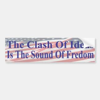 O conflito das ideias é o som da liberdade adesivo