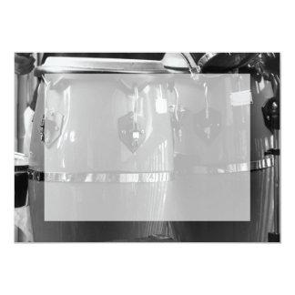 O conga preto e branco rufa a foto convites personalizado