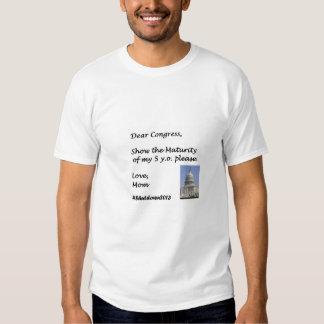 O congresso deve mostrar a maturidade das crianças tshirts