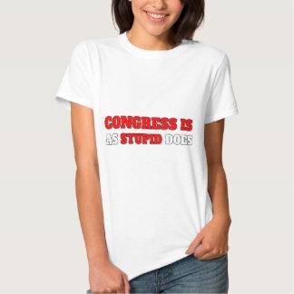 O congresso é como estúpido faz camiseta