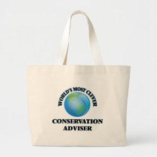 O conselheiro o mais inteligente da conservação do bolsas para compras