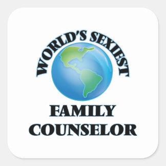 """O conselheiro o mais """"sexy"""" da família do mundo adesivo quadrado"""
