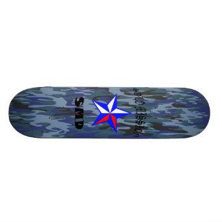 O conselho azul de Camo da missão de solo Shape De Skate 18,4cm