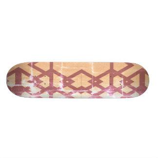 O conselho colorido madeira desperdiçado shape de skate 18,7cm