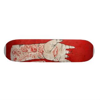 o conselho da mão shape de skate 18,1cm