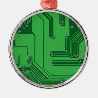O conselho de circuito ornamento redondo cor prata
