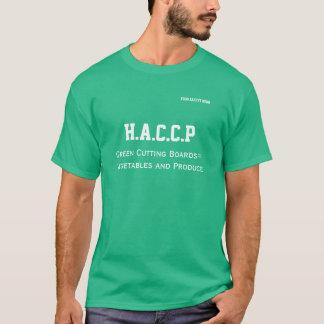 O conselho de corte do verde do Tshirt de HACCP Camiseta