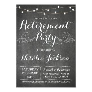 O conselho de giz do convite da aposentadoria