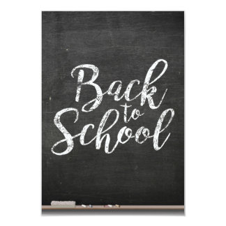 O conselho de giz preto de volta à escola convite 8.89 x 12.7cm