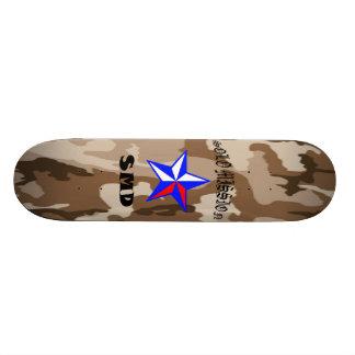 O conselho de solo de Brown Camo da missão Shape De Skate 21,6cm