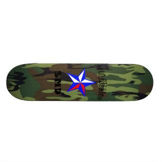 O conselho de solo de Camo 2 do verde da missão Shape De Skate 18,4cm