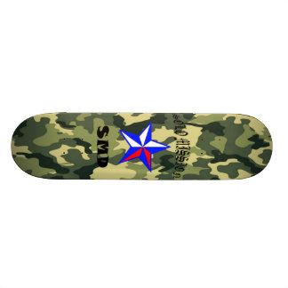 O conselho de solo de Camo do verde da missão Shape De Skate 20,6cm