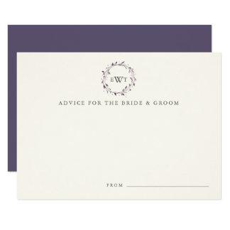O conselho do casamento da grinalda do monograma convite 8.89 x 12.7cm