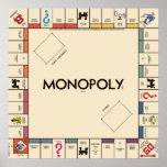 O conselho do jogo do monopólio do vintage posters