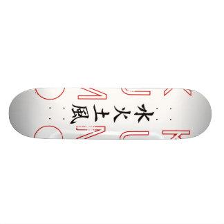 """""""O conselho do Kanji elementar"""" Shape De Skate 20,6cm"""