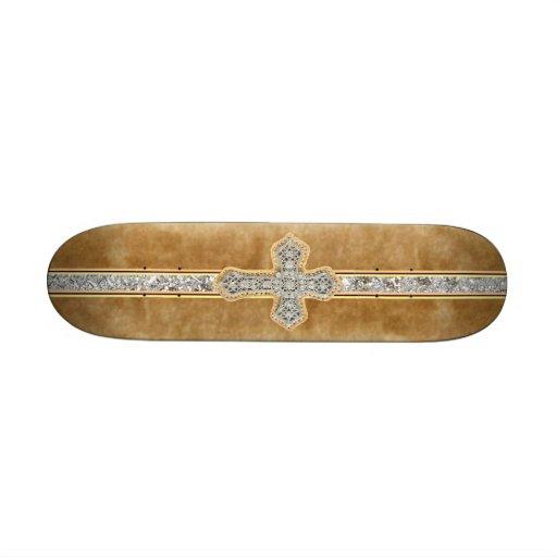 O conselho do mármore do falso & do skate da cruz