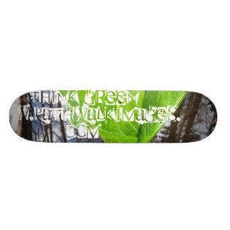 O conselho do pense verde - www.pathwalkimages.com shape de skate 18,7cm