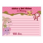 O conselho doce dos bebês da selva para mamães car cartões postais