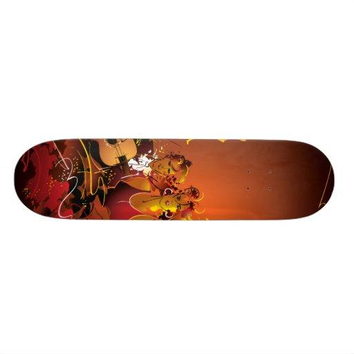 O conselho musical skate boards