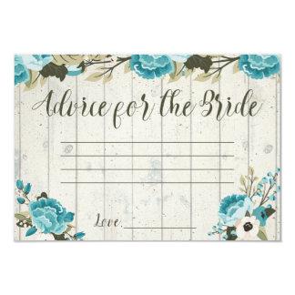 O conselho para a noiva carda o casamento vintage convite 8.89 x 12.7cm