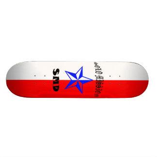 O conselho patriótico da missão de solo shape de skate 19,7cm
