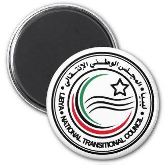 O Conselho transitório nacional do selo de Líbia Ímã Redondo 5.08cm