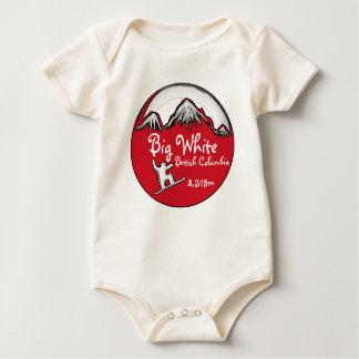 O conselho vermelho do bebê do Columbia Britânica Macacãozinho