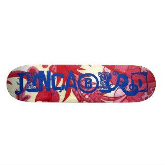 o conselho vermelho original do jincabird shape de skate 20,6cm