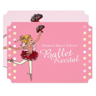 O considerando do balé caçoa convites cor-de-rosa