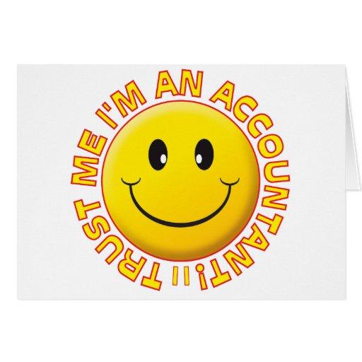 O contador confia-me smiley cartao
