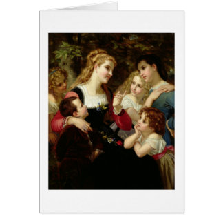O contador de histórias, 1874 (óleo em canvas) cartão