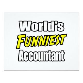 O contador o mais engraçado do mundo convite 10.79 x 13.97cm