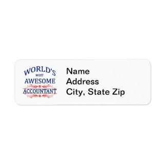 O contador o mais impressionante do mundo etiqueta endereço de retorno