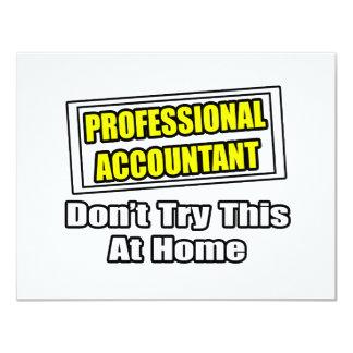 O contador profissional… não tenta este em casa convite 10.79 x 13.97cm