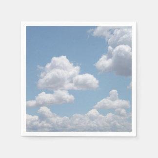 O conto de fadas nubla-se os guardanapo de papel