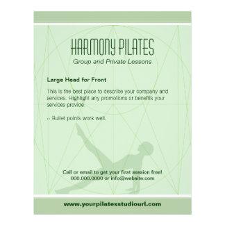 O Convergent alinha o insecto de Pilates Panfleto Personalizado