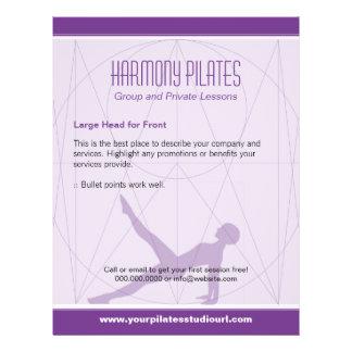 O Convergent alinha Pilates roxo Panfleto Personalizado