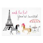 O convite bonito do aniversário do cavalo de Paris