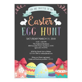 O convite da caça do ovo da páscoa, caça do ovo