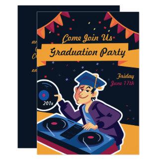 O convite da festa de formatura do DJ do formando