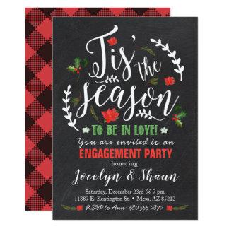 O convite da festa de noivado da estação de Tis