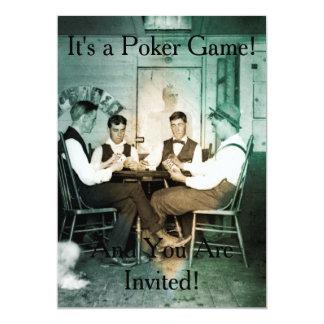 O convite da fotografia do jogo de póquer convida