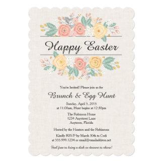 O convite da páscoa, refeição matinal, caça do ovo